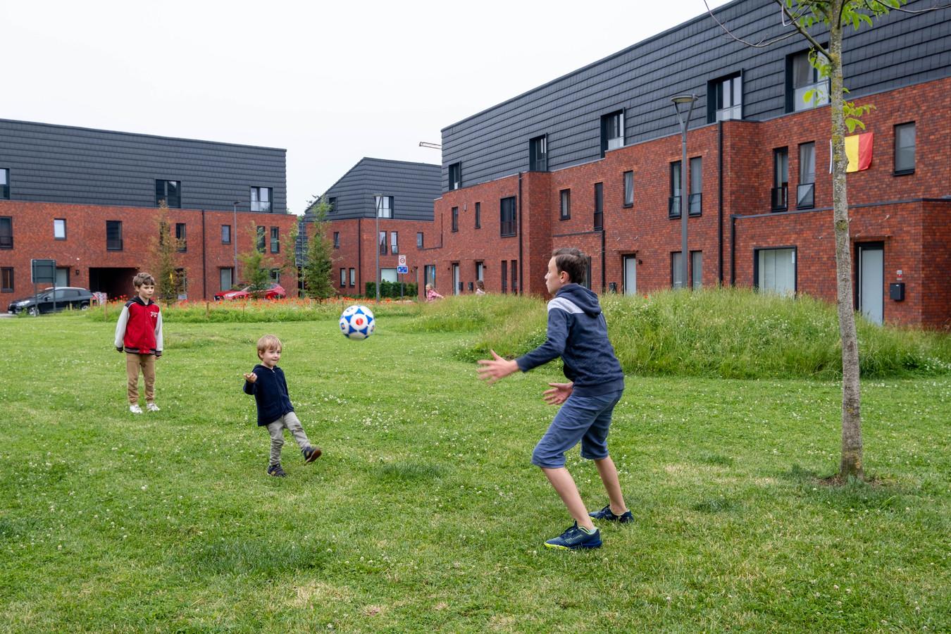 Woonsite De Nayer in Willebroek, waar recent nog zorgeloos werd gespeeld op de grasvelden.