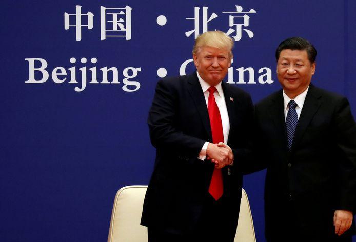 President Donald Trump en President Xi Jinping  van China.