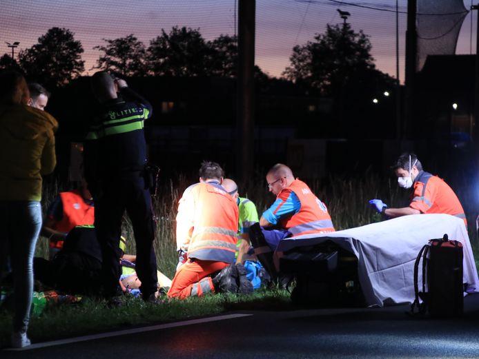 Het slachtoffer raakte bij de aanrijding zwaargewond.