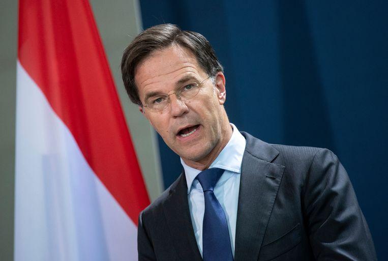 Premier Mark Rutte. Beeld AP