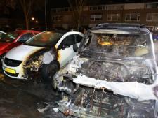 Twee auto's gaan in vlammen op in Sint-Michielsgestel