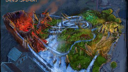 Boomstammetjes in Plopsaland worden omgetoverd in de 'Dino Splash'