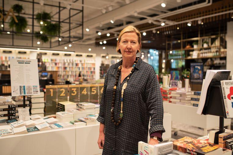 Grietje Braaksma van boekhandel Broese in Utrecht.    Beeld Sabine van Wechem