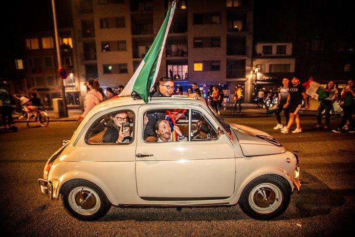 EK België-Italië op de grote markt in Genk