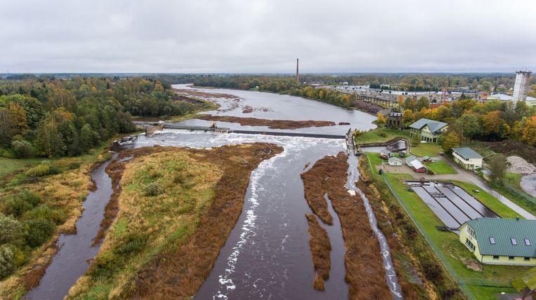 De Sindi-dam in Estland. Beeld Ministerie van Milieu, Estland.