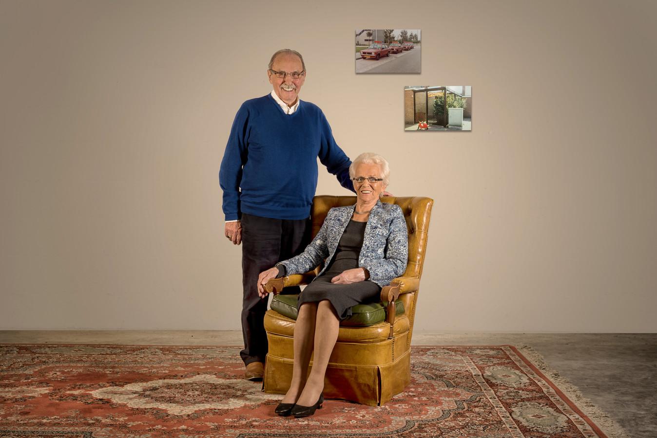 Het echtpaar Smits-Cornelissen is 60 jaar getrouwd.