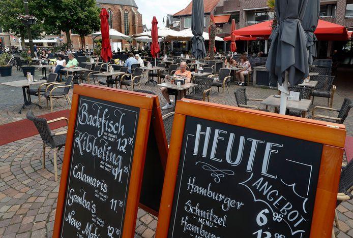 Weinig Duitsers op duitse feestdag in Winterswijk.