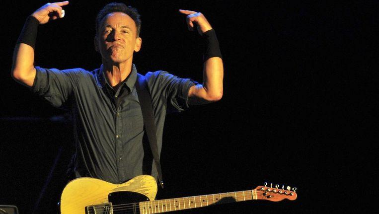 Bruce Springsteen tijdens de Wrecking Ball-tournee. Beeld BELGA