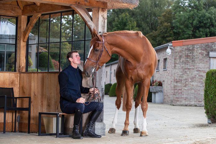 Jos Verlooy met paard Igor.