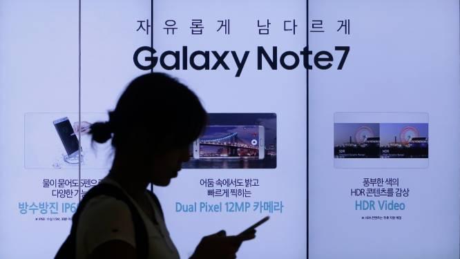 """Samsung: """"Batterij oorzaak van explosieve Note7"""""""
