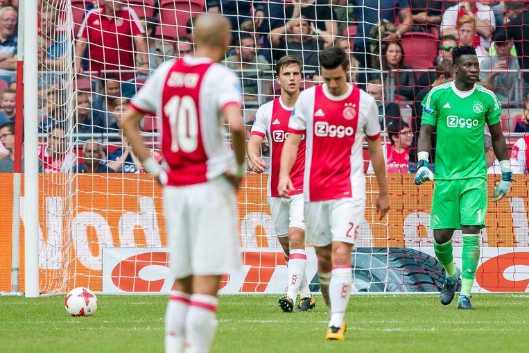 Ajax verloor zondag met 1-2 van Vitesse in de eigen ArenA.  Beeld ANP Pro Shots