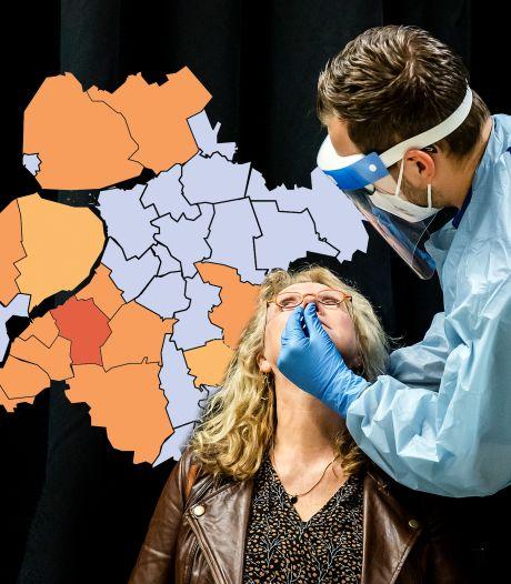 KAART | Opvallende daling in Oldebroek, coronasituatie in Nunspeet blijft slecht