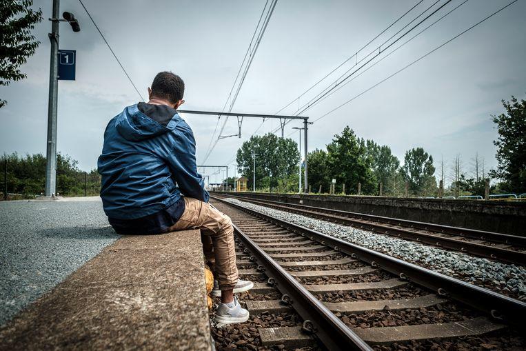 'De eerste avond namen we de trein naar het huis in Kwatrecht. We hadden geen geld voor een kaartje en verstopten ons met drie in het toilet. Oncomfortabel, maar niemand klaagde.' Beeld Guy Puttemans Humo 2021