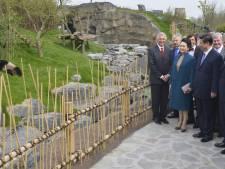 Les deux pandas chinois ont reçu une visite présidentielle