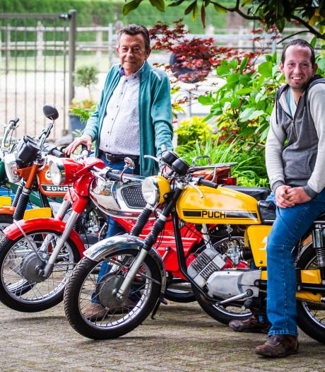 Vader Arie en zoon Armand zijn gek op hun 85 bijzondere brommers