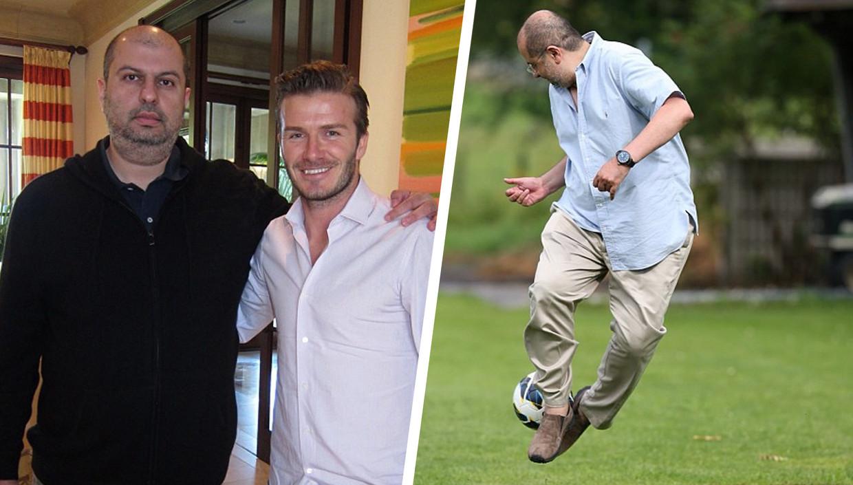 Abdullah bin Mosaad bin Abdulaziz al Saud met David Beckham. Beeld RV