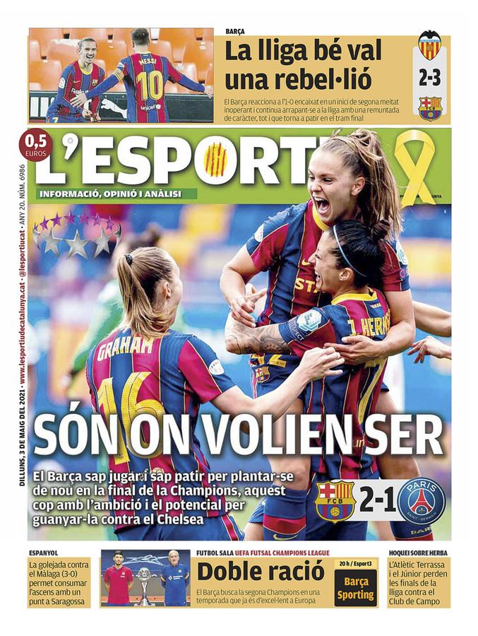 De voorpagina van de L'esportiu