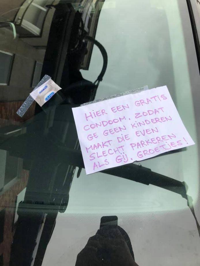 Foutparkeerder wordt gemaand geen kinderen te maken in België.