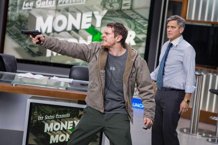 Jack O'Connell en George Clooney in Money Monster van Jodie Foster. Beeld