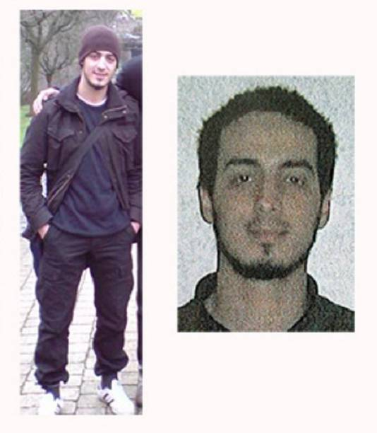 De man die op de foto links staat, blijkt Najim Laachraoui, een voor betrokkenheid bij de aanslagen in Parijs gesignaleerd staande Syriëstrijder. Hij blies zich ook op op de luchthaven.