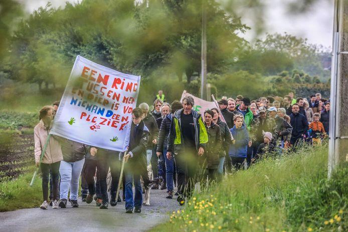 Vorig jaar vond er in Anzegem nog een betoging tegen de ringweg plaats.