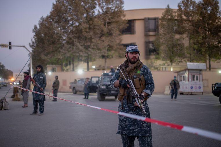 Taliban in Kabul, Afghanistan,op 12 oktober. Beeld AP