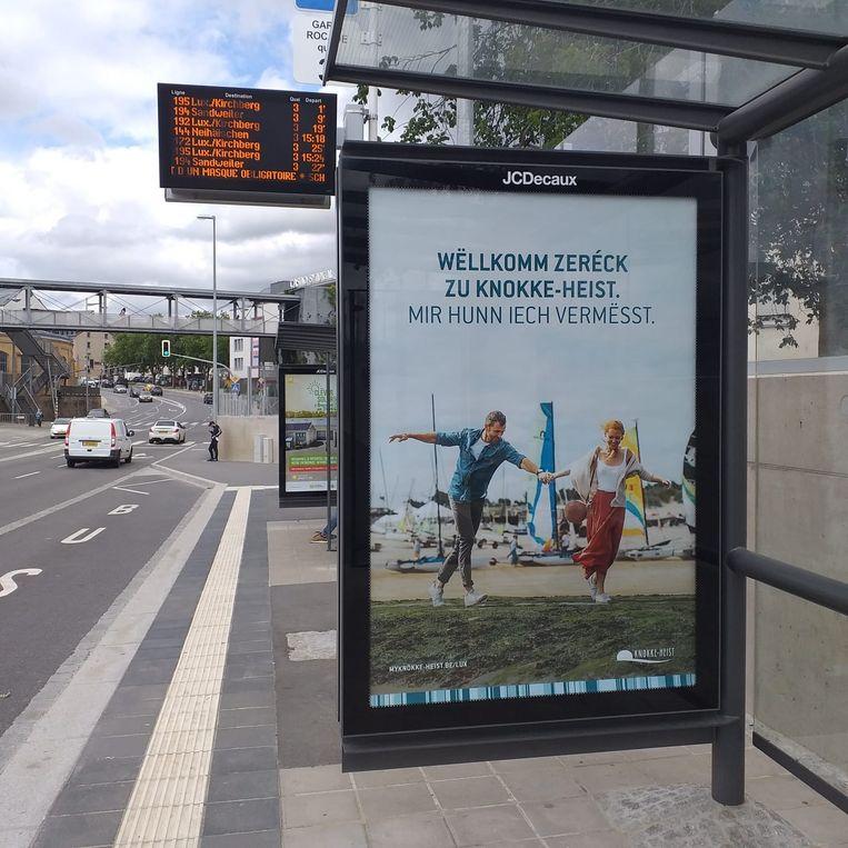 Postercampagne van Knokke-Heist in Luxemburg. Er hangen zo'n 260 affiches in Luxemburg-Stad. Beeld RV