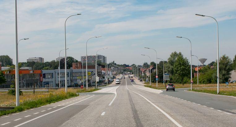 De N70 in Sint-Niklaas.