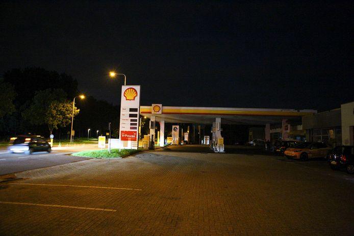 De borden konden door de stroomstoring de brandstofprijzen niet meer tonen.