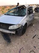 De auto raakte bij het ongeval zwaar beschadigd.