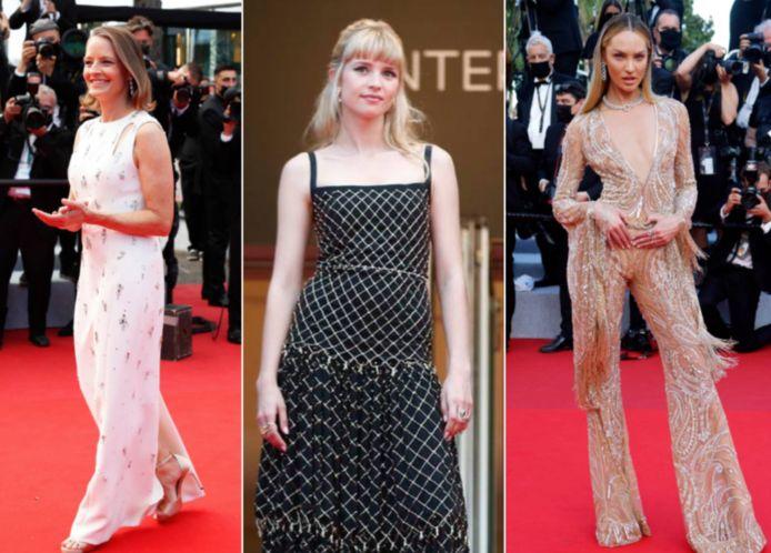 Op de rode loper van Cannes.