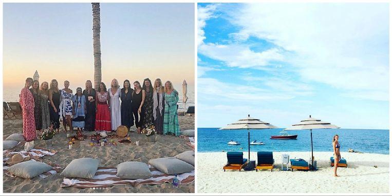 Gwyneth Paltrow vierde haar vrijgezellenfeest op Cabo.