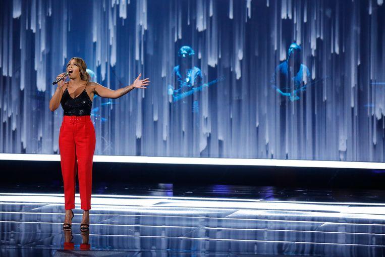 Glennis Grace tijdens de halve finale van America's Got Talent Beeld Getty Images