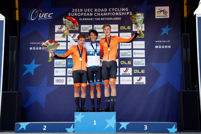 1. Andrea Piccolo (Italie) - 2. Lars Boven (Nederland) - 3. Enzo Leijnse (Nederland).