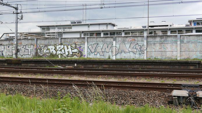 """Parallelweg Zuid. Paul Jongsma: ,,Dit was een lelijke muur die door de graffiti werd verfraaid. Maar dat is al weer een hele tijd geleden. Inmiddels is de graffiti flink verweerd. En ook hebben anderen er tags en andere graffiti overheen gezet. Dat heeft het er niet mooier opgemaakt""""."""