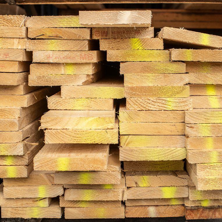 Ook de prijzen van bouwmaterialen stijgen flink. Beeld Harry Cock / de Volkskrant