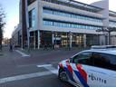 De politie op de Markt in Uden.