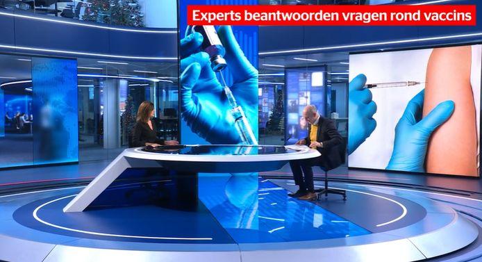 Zondag maakte VTM NIEUWS een speciale nieuwsuitzending geheel gewijd aan het vaccin. Nieuwsanker Birgit Van Mol ontving er de absolute hoofdrolspelers van de vaccinatiestrategie en beantwoordt met hen al uw vragen.