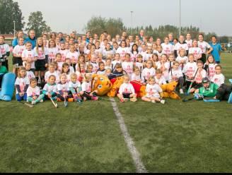 84 meisjes proeven van hockey tijdens #UnitedGirlPower bij Hockey Club Beveren