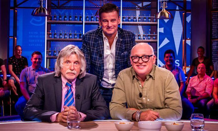 Johan Derksen (l), Wilfred Genee  en René van der Gijp.