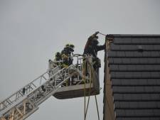 Brand door blikseminslag in Schoonhoven