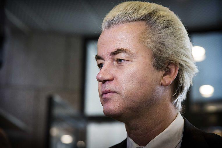 """PVV-leider Geert Wilders noemt de vraag van de moskeeën """"waanzin"""". Beeld ANP"""