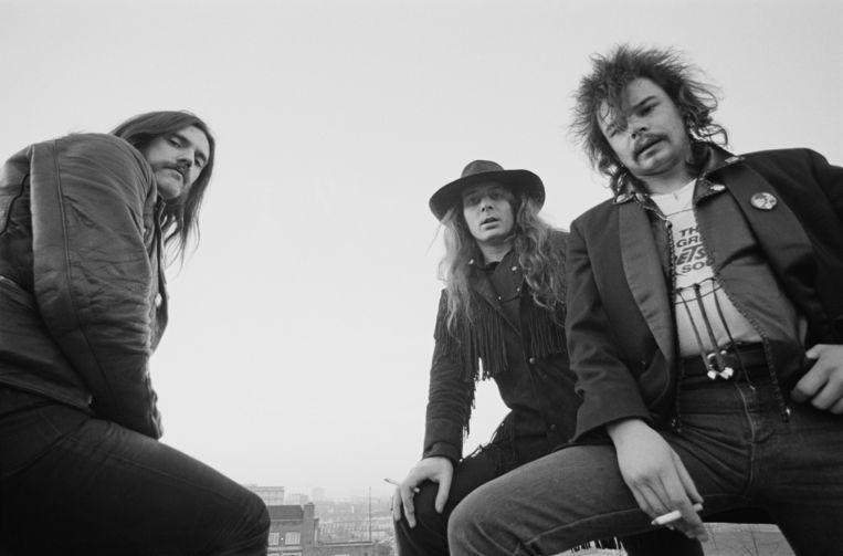 Motörhead in 1980: Lemmy Kilmister, Phil 'Philthy Animal' Taylor en 'Fast' Eddie Clarke.