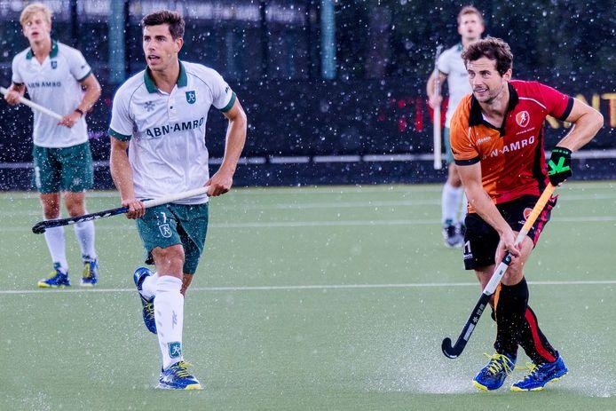 Sander Baart is na vier jaar terug op het Eindhovense hockeyveld, bij Oranje-Rood. Zondag speelde hij sterk als middenvelder in een oefenwedstrijd tegen Rotterdam: 4-2 winst.