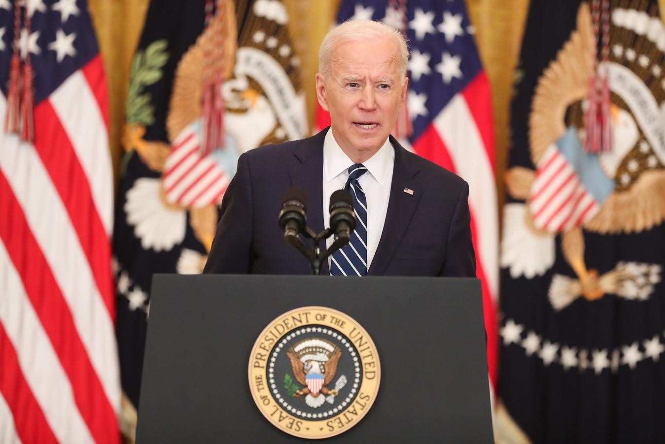Joe Biden heeft zijn eerste formele persconferentie als president van de Verenigde Staten gegeven.