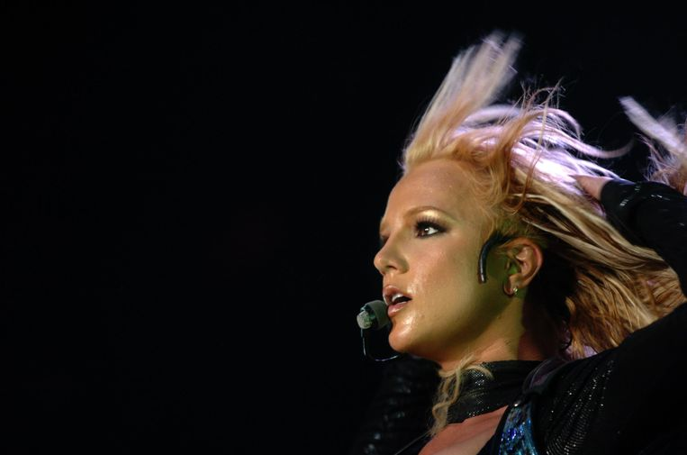 Optreden van Britney Spears in Lyon, in 2004.   Beeld AFP