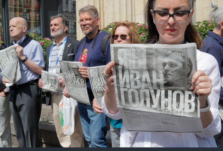 De arrestatie leidde tot dagenlang protest door sympathisanten van de journalist.