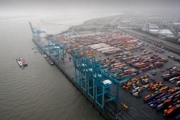 Illustratiebeeld: containers in de haven van Antwerpen.