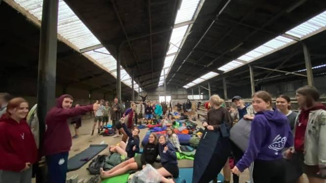 """Scouts & Gidsen Mandus Aspelare keren dan toch terug uit Luik door noodweer: """"Een aangenaam kamp zit er niet meer in"""""""