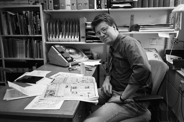 Stieg Larsson stierf in 2004. Na zijn dood liet hij twintig archiefdozen met materiaal over de moord op Olof Palme achter. Beeld BELGAIMAGE